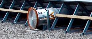 temporary grain storage fan